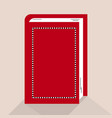 red book in vector image vector image