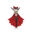 reepy furious count dracula with burning eyes vector image vector image