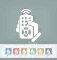 remote control concept icon vector image vector image