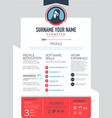 resume template CV Brochure layoutmagazine vector image
