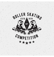 Retro Vintage roller skating Label vector image
