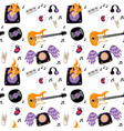 rock music attributes seamless pattern vector image