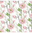 seamless spring pattern with pink magnolias vector image vector image