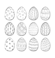 Set of Isolated Easter eggs vector image