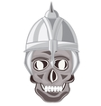 Skull of the person in send vector image vector image