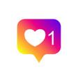 social media notifications like followers good vector image