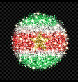 suriname flag sparkling badge vector image vector image