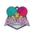table tennis ping pong logo with text space vector image