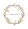 template nature frame vector image vector image