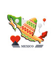 traditional mexican sombrero hat vector image