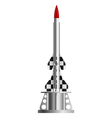 Two-stage rocket on the launch pad vector image vector image