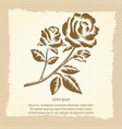 vintage poster with roses engraving vector image vector image