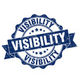 visibility stamp sign seal vector image vector image