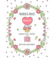 wedding day poster invitation for day vector image