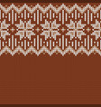 winter knitted wool sweater pattern vector image