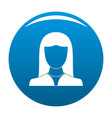 woman avatar icon blue vector image vector image