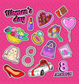 womens day holiday doodle woman fashion vector image