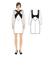 womens dress vector image
