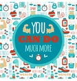 You can do much more phrase on fitness seamless vector image