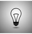 flat design bulb icon vector image