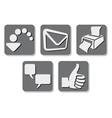printer icon - print button vector image