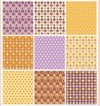 noney and lilac pattern set vector image