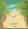 summer beach landscape vector image