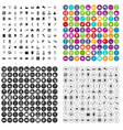 100 disabled healthcare icons set variant vector image vector image