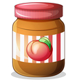A bottle of fruit jam vector image vector image