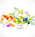 Abstract colorful and creative triangle background vector image vector image