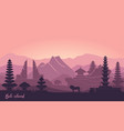 abstract landscape indonesian island of vector image vector image