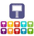 advertising billboard icons set vector image vector image