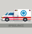 ambulance wagon vector image