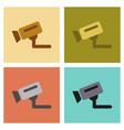 assembly flat icons security camera vector image vector image
