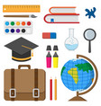 back to school school accessories vector image