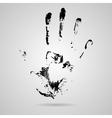 black smeared hand of mascara vector image