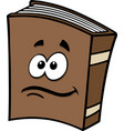 book cartoon character graphic vector image