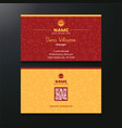business card both side vector image vector image