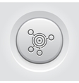 Business Goals Icon Grey Button Design vector image vector image