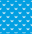 butterfly with stripes on wings pattern vector image vector image