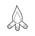 camp fire isolated icon vector image vector image