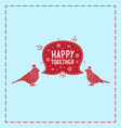 Card birds happy together vector image vector image