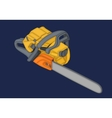 chainsaw isometric flat 3d vector image vector image