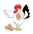 Chicken hold egg vector image vector image
