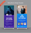 creative rollup banner with blue and purple vector image vector image