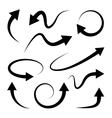 Curved arrows set Full rotation Refresh vector image