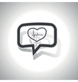 Curved cardiology message icon vector image vector image