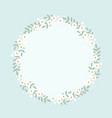 cute flat style white daisy flower wreath frame vector image