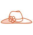 elegant female summer hat vector image vector image