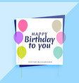 elegant happy birthday card design with colorful vector image vector image